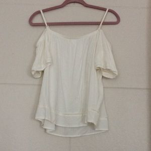 Old Navy white off the shoulder Flowly top